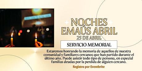 SERVICIO MEMORIAL boletos