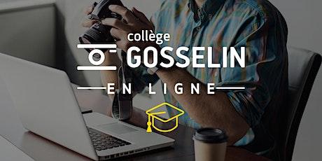 WEBINAIRE Gosselin | En photographie, tout est une question de lumière tickets