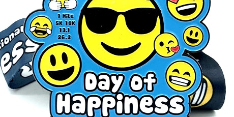 International Day of Happiness 1M 5K 10K 13.1 26.2 -Participate from Home! tickets