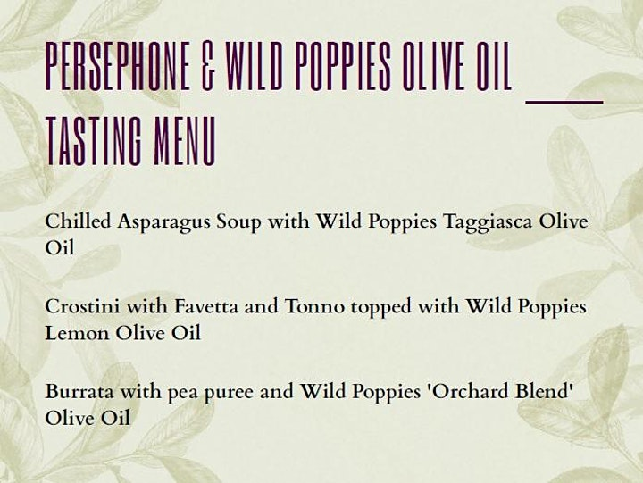 Persephone & Wild Poppies Olive Oil Synergies image