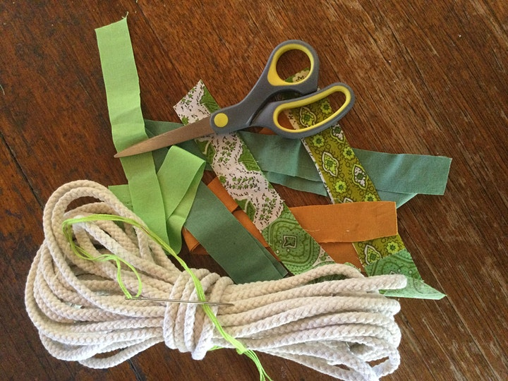 Rope Tricks and Wine   OR  How  to make a Coiled Fabric Basket ! image