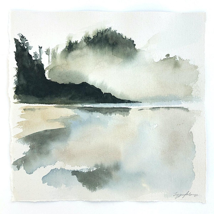 Virtual Painting Class:  Landscape Reflections in Watercolour! image