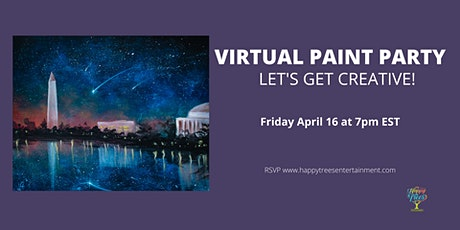Virtual Paint Party:  Beautiful DC Night tickets