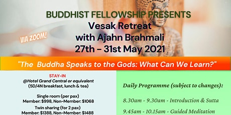 Vesak Retreat with Ajahn Brahmali (Zoom Registration) tickets