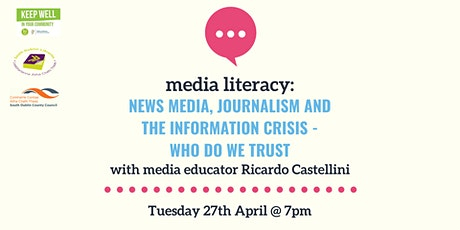 Media Literacy 4: News Media, Journalism & the Information Crisis tickets