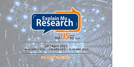 ExplainMyResearch (EmR) - NUS Meets Industry 2021 tickets