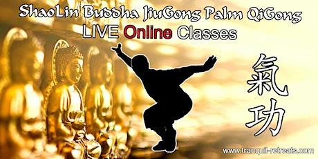 QI GONG - Online LIVE classes - ShaoLin Buddha JiuGong Palm QiGong tickets