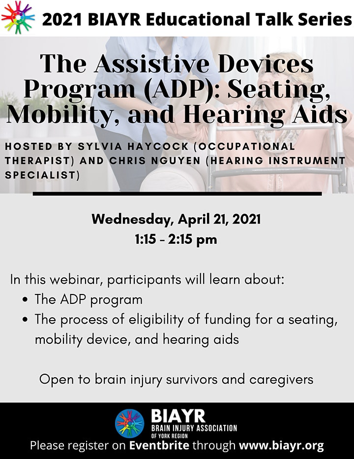 The Assistive Devices Program (ADP)  - 2021 BIAYR Educational Talk Series image