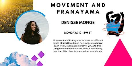 Movement and Pranayama tickets