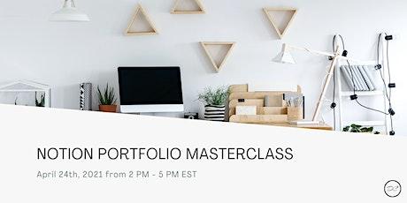 Notion Portfolio Masterclass bilhetes
