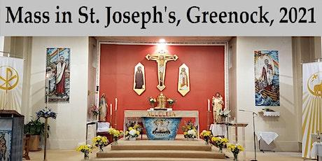 Masses in St. Joseph's, Greenock, 2021 tickets