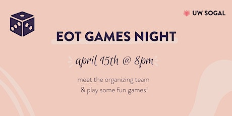 SoGal Waterloo: End of Term Games Night tickets
