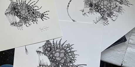 """Zengler"" Fish - A Zentangle® inspired illustration tickets"