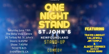 ONE NIGHT STAND ST. JOHN'S tickets