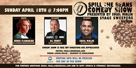 "Spill The Beans Comedy Show- ""Stage Sweepers"" Edition tickets"