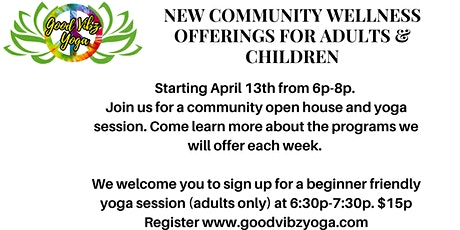 Community wellness sessions for adults and kids in Detroit tickets