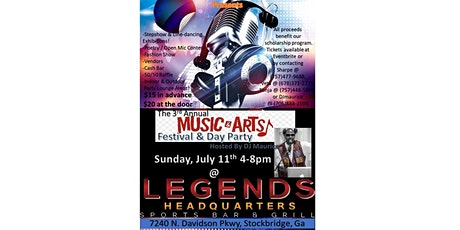 3rd Annual Music & Arts Festival & Day Party tickets