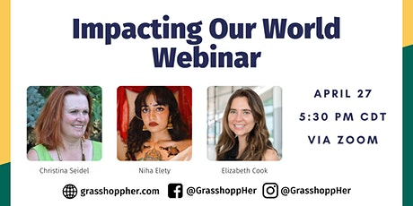 Impacting Our World with Elizabeth Cook, Niha Elety and Christina Seidel tickets