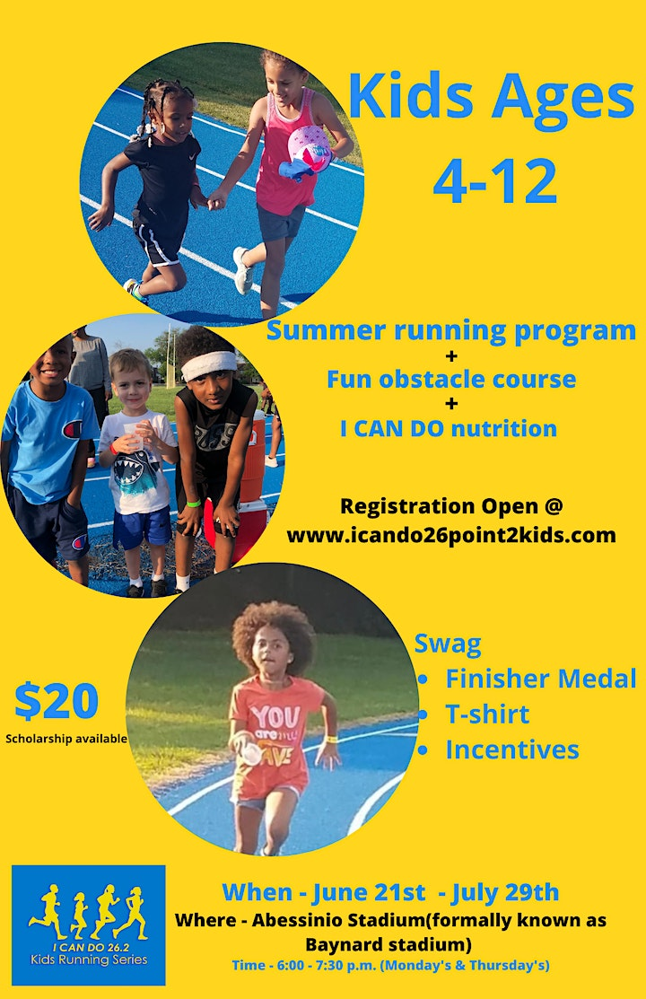 I Can Do 26.2 Kids summer running series - for children ages 4-12 image