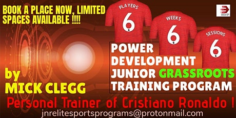 Monday Program-31/5/21-5/7/21-x6 Weekly 2hr Jnr Training Sessions tickets