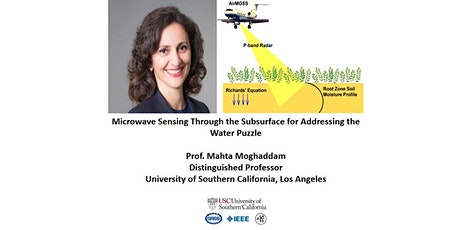 Microwave Sensing Through the Subsurface for Addressing the  Water Puzzle tickets