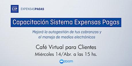 Capacitación Sistema Expensas Pagas: Café virtual para Clientes boletos
