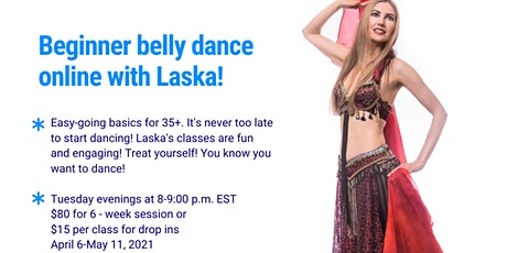 Online Beginner Belly Dance Class tickets