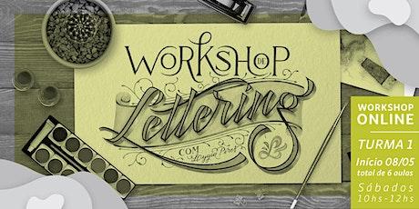 Lettering com Lygia Pires - Sábados ingressos