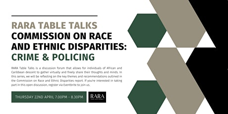RARA Table Talks:  Commission on Race and Ethnic Disparities in Policing tickets