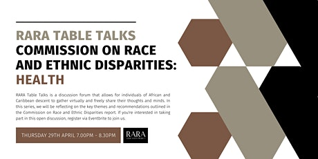 RARA Table Talks:  Commission on Race and Ethnic Disparities in Health tickets