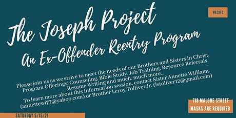 The Joseph Project Information Session- FREE! tickets
