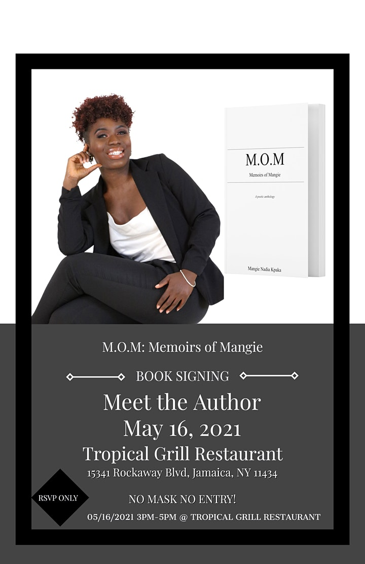 Mangie Nadia Kpaka Presents A Book Signing for  M.O.M : Memoirs of Mangie image
