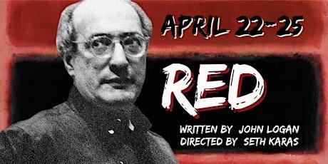 PCLT Presents John Logan's RED tickets