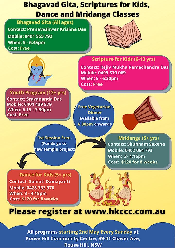 Bhagavad Gita, Scripture for Kids, Dance and Mridanga image