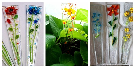2 Glass Flower Plant Stakes - Just in time for Mother's Day! tickets