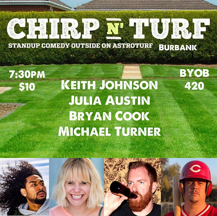 CHIRP N' TURF: Outdoor Standup Comedy image