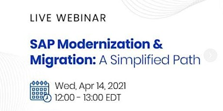 SAP Modernization & Migration: A Simplified Path tickets