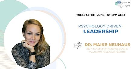 Psychology Driven Leadership tickets