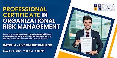 Professional Certificate in Organizational Risk Management biglietti
