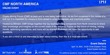 Crypto Mining Forum North America (Online) tickets