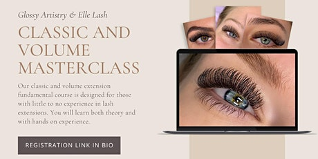 Classic and Volume Lash Extension Training tickets