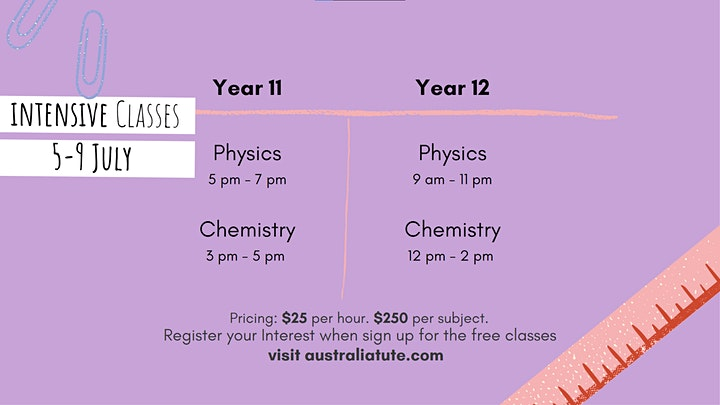 VCE Physics  - Kinematics, 1 and 2 July (Online) image