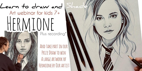 Learn to Draw with Pencils - Hermione - Art Webinar for Kids 7+ tickets