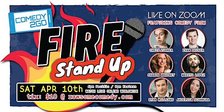 Comedy2Go presents: FIRE STAND-UP - Live Online Comedy Show image