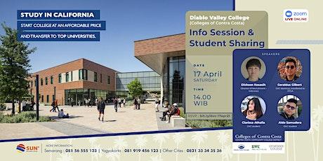 Diablo Valley College Info Session & Student Sharing 17 April 2021 biglietti