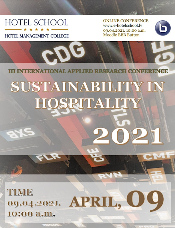 INTERNATIONAL APPLIED RESEARCH CONFERENCE: SUSTAINABILITY IN HOSPITALITY 21 image