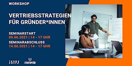 WORKSHOP | Vertriebsstrategien für Gründer*innen Tickets