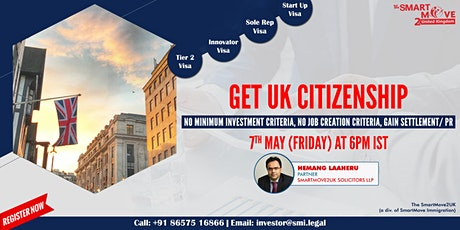 FREE Webinar - How starting a business in UK can lead you to UK Citizenship tickets