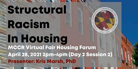 Structural Racism in Housing (MCCR Fair Housing Forum) tickets