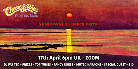 Paint 'SUNSET'- Beach Party - ZOOM - £10 tickets